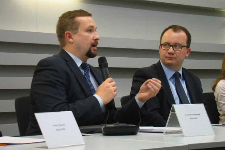 na zdjęciu dr Jarosław Zbieranek oraz dr Adam Bodnar