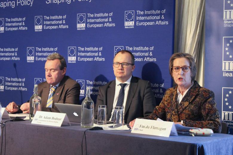 Dr Adam Bodnar podczas konferencji w Dublinie