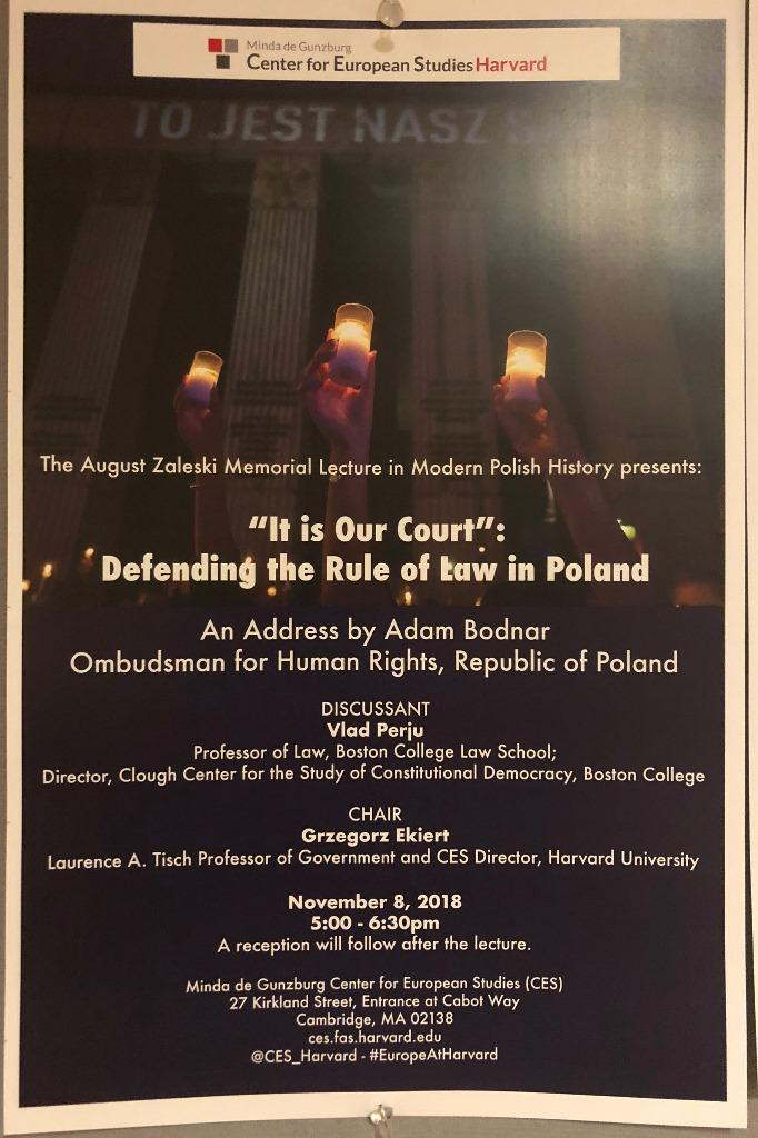 Plakat zapowiadający wystąpienie RPO