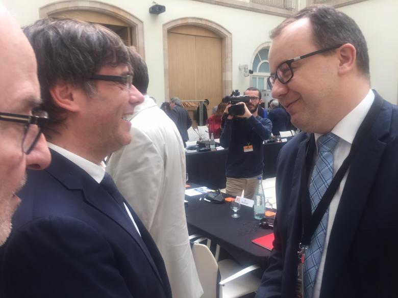 Na zdjęciu Adam Bodnar z Prezydentem Katalonii Carlesem Puigdemont