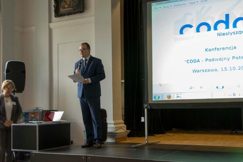 Adam Bodnar na konferencji o sytuacji CODA