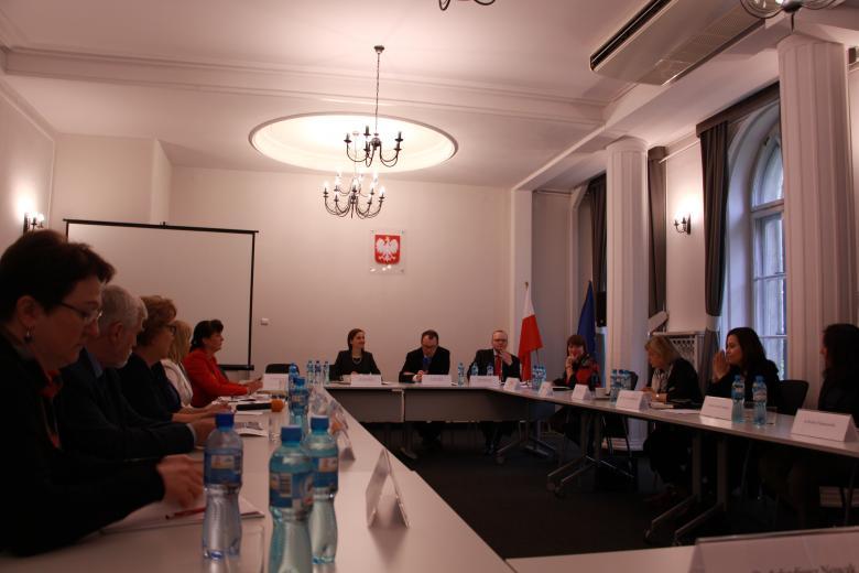 Uczestnicy podczas spotkania Komisji Zdrowia w BRPO