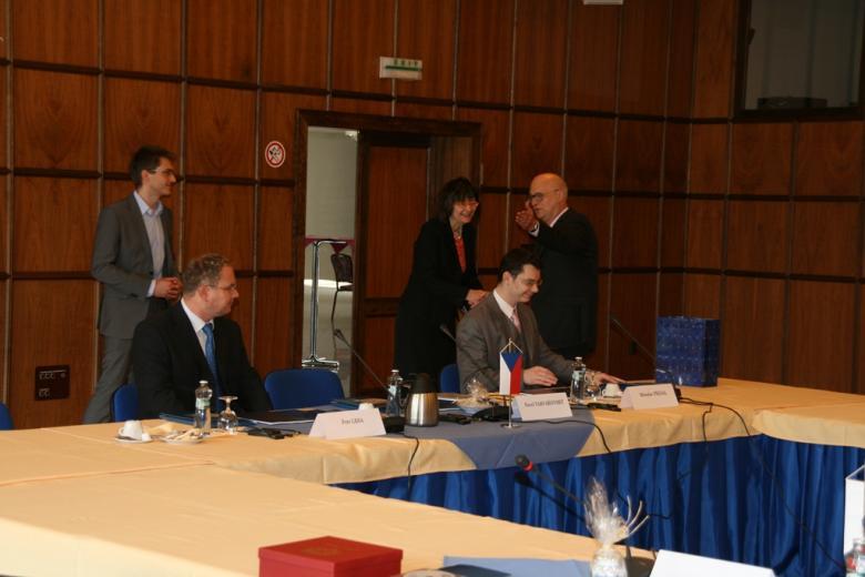 Na zdjęciu uczestnicy spotkania Ombudsmanów państw Grupy Wyszehradzkiej