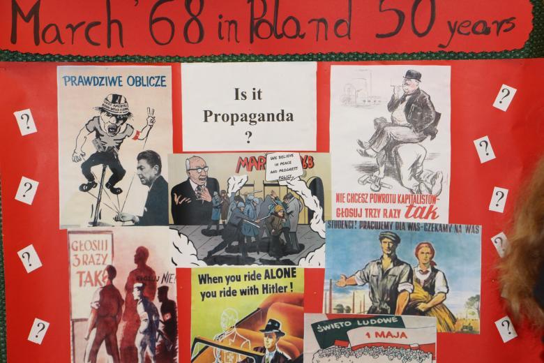 projekt młodzieży - ilustracja propagandy