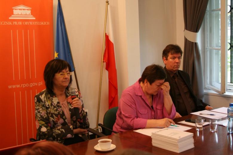 From the left: prof. Irena Lipowicz, Barbara Imiołczyk, Marek Przystolik
