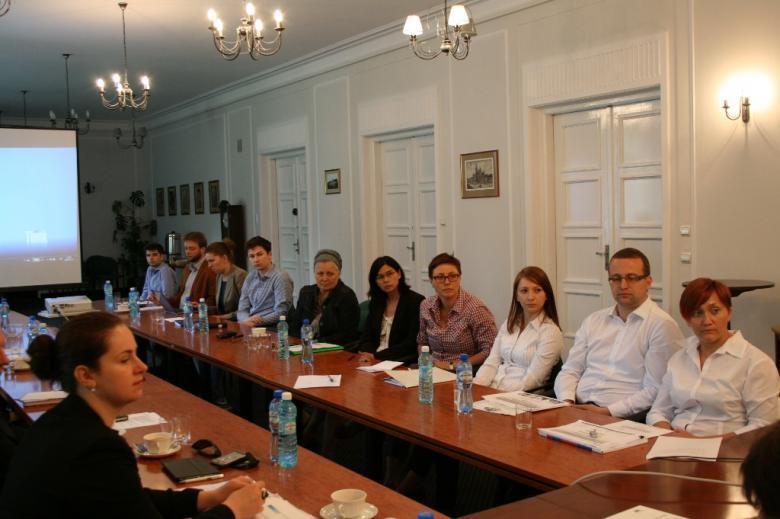 Na zdjęciu uczestnicy posiedzenia Komisji Ekspertów ds. Migrantów