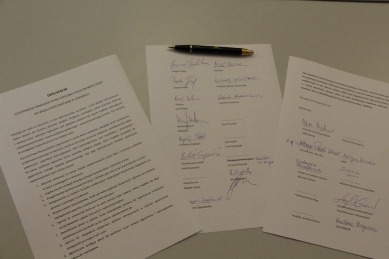 Deklaracja uczestników Okrągłego Stołu do walki z patotreściami w internecie.