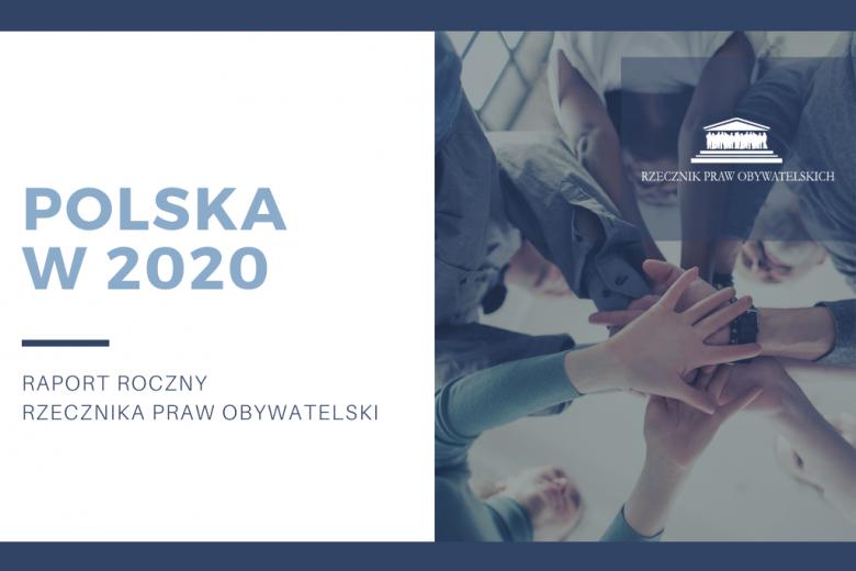 """Grafika z napisem """"Polska 2020 - raport roczny RPO"""""""
