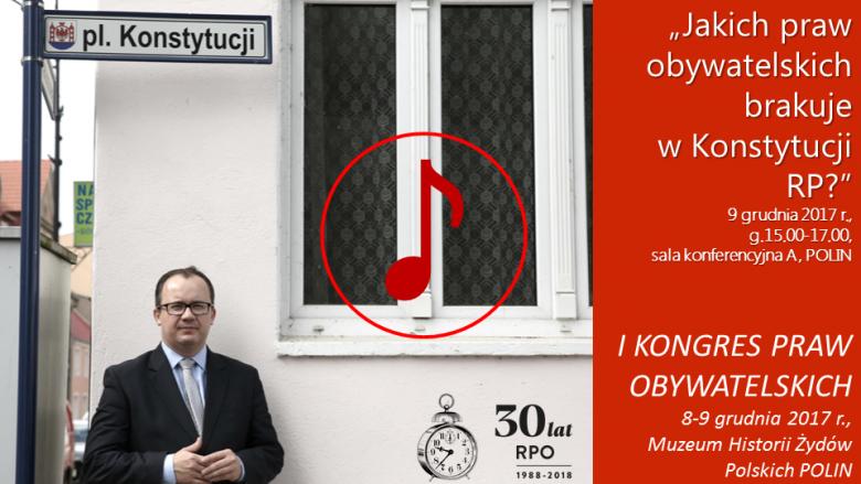 Mem ze zdjęciem RPO na placu Konstytucji w Drawsku, znak odtwarzania dźwięku