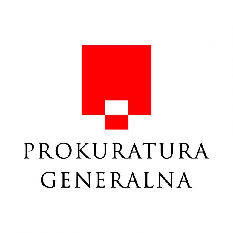 grafika przedstawiająca czerwone logo Prokuratury Generalnej