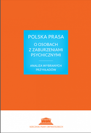 Okładka książki: tytuł na pomarańczowym tle w niebieskim kwadracie
