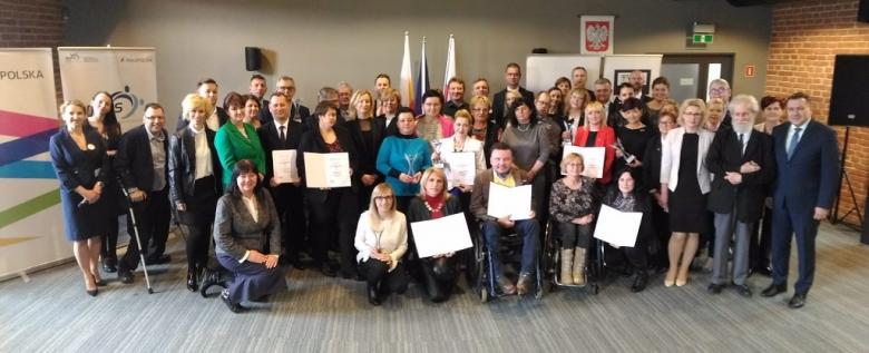 Uczestnicy gali konkursu Samorząd Równych Szans