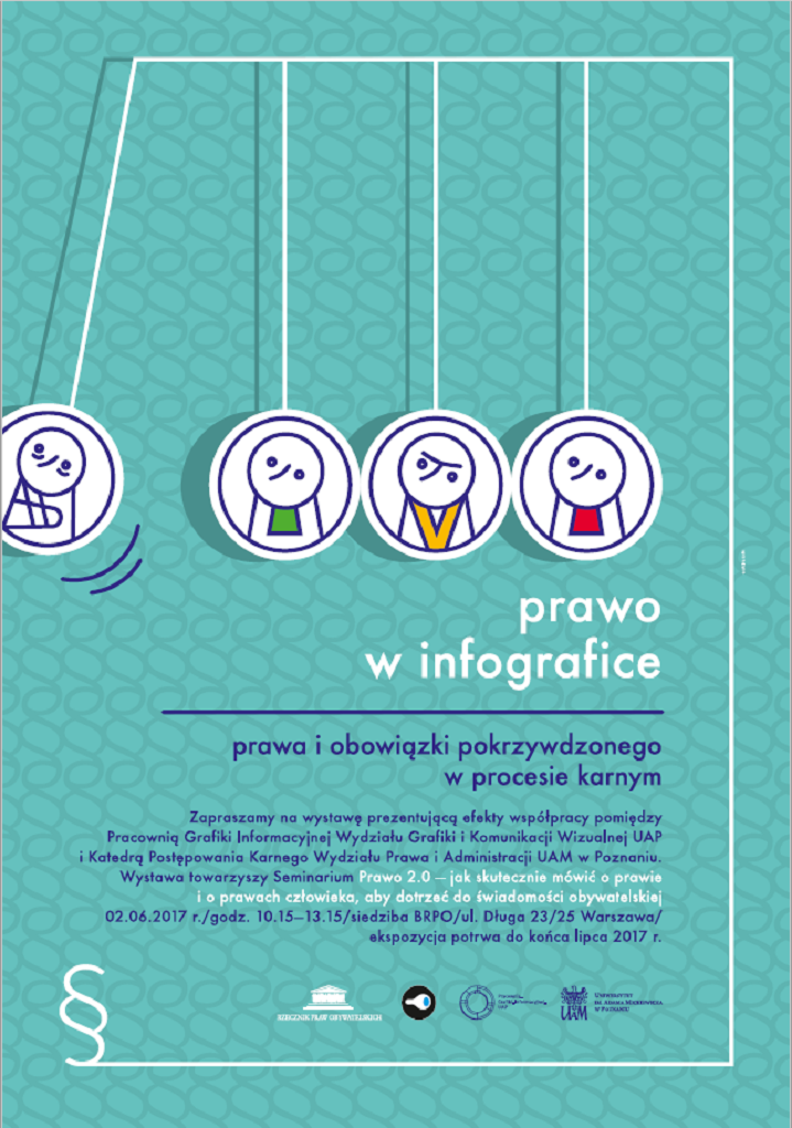 Seledynowy plakat - prawo w infografice