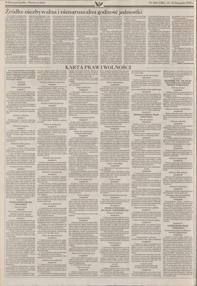 Skan ze starej gazety