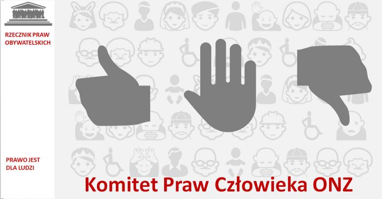 Grafika: dłoń z kciukiem do góry, do dołu i wyprostowana dłoń