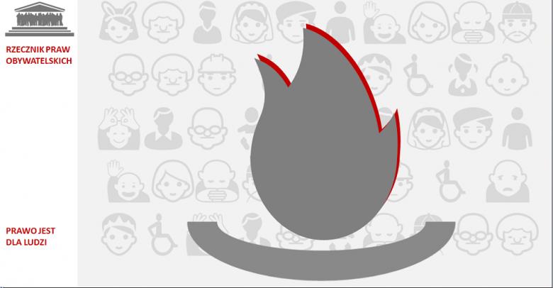 Grafika: płomień w kaganku