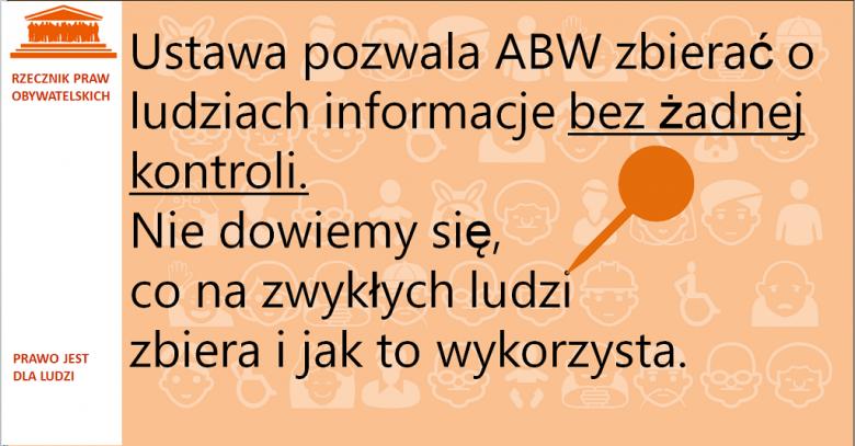 Grafika: napis na pomarańczowym tle i znak pinezki
