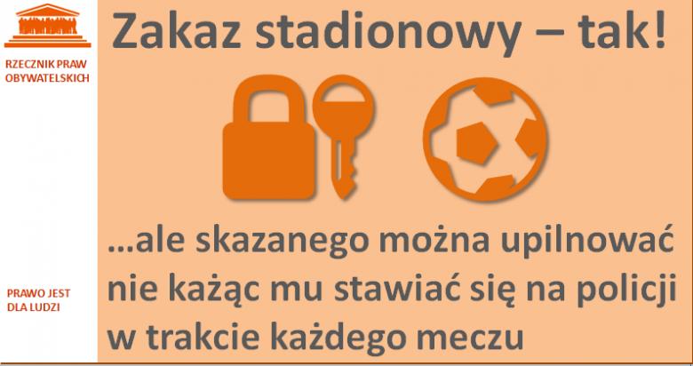 Grafika: kłódka i piłka na pomarańczowym tle