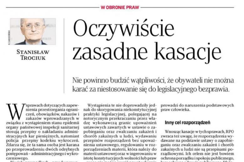 Fragment strony gazety z tytułem