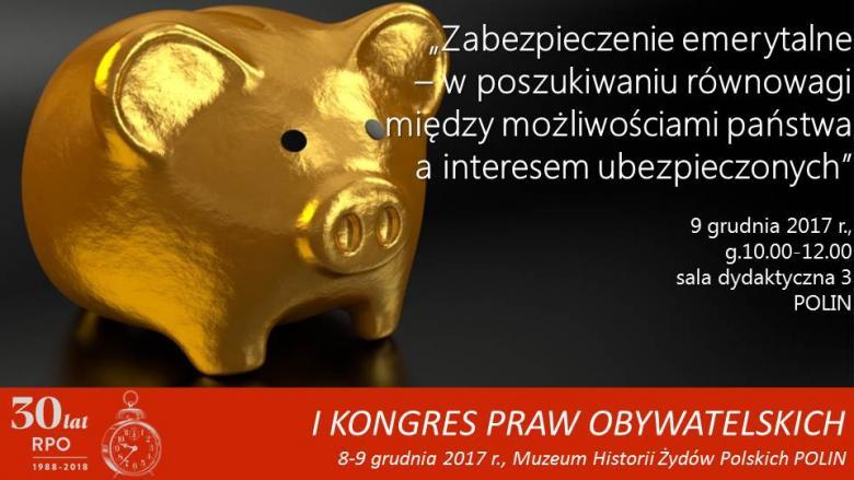 Mem ze zdjęciem złotej świnki-skarbonki