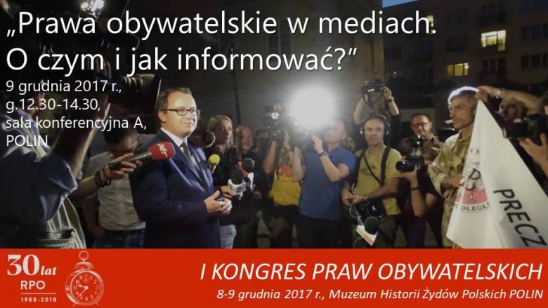 """Mem ze zdjęciem dziennikarzy, RPO i ludzi z transparentem z napisem """"Precz"""""""
