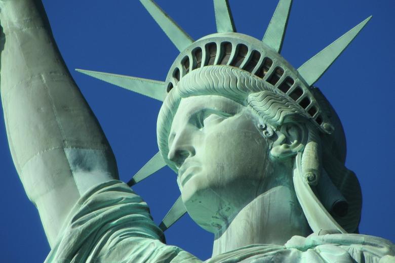 Głowa statuy wolności w Nowym Jorku