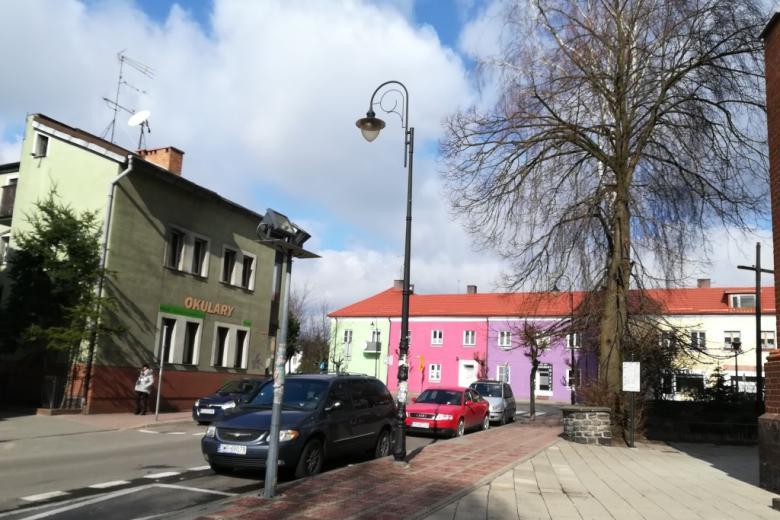Kolorowe domy piętrowe