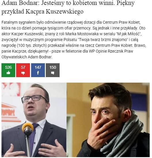 grafika: fragment strony internetowej wp.pl