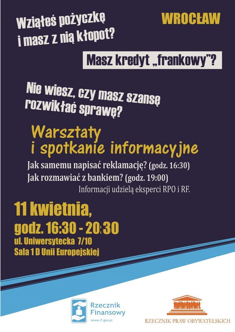 Plakat zapowiedający spotkanie 11 kwietnia