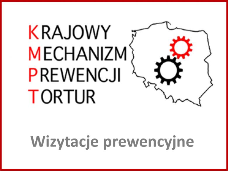 Logo KMPT z napisem Wizytacje prewencyjne