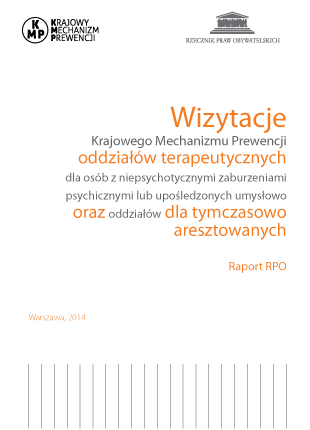 Okładka publikacji - Wizytacje Krajowego Mechanizmu Prewencji oddziałów terapeutycznych.