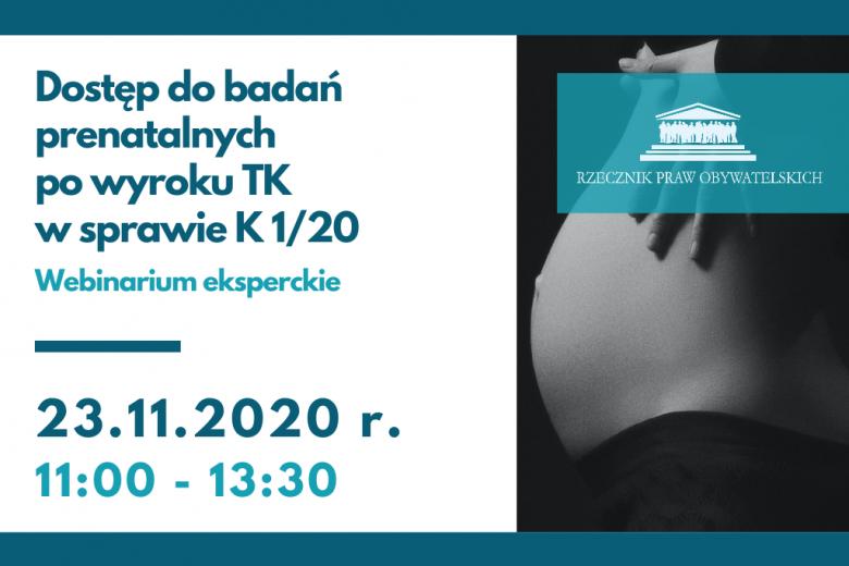 plakat wydarzenia ze zdjęciem kobiety w ciąży