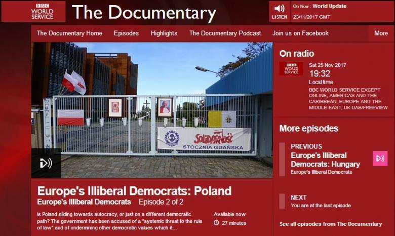 grafika: fragment strony internetowej BBC World