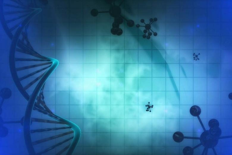 Podwójna helisa DNA i modele cząsteczek chemicznych