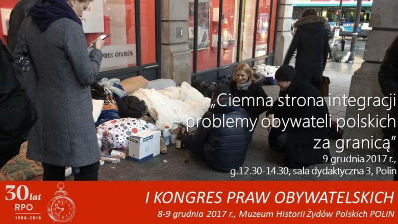 Mem zdjęciem, na którym RPO Adam Bodnar rozmawia z bezdomnym mężczyzną