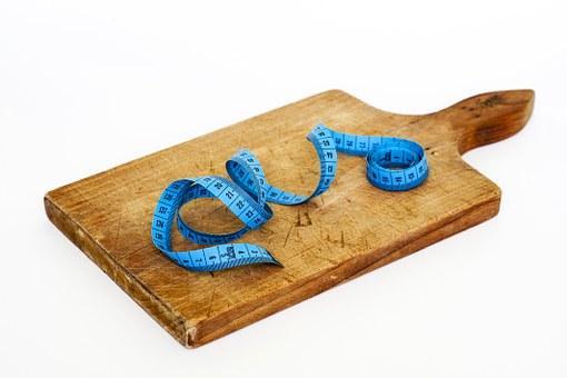 Deska do żywności z centymetrem