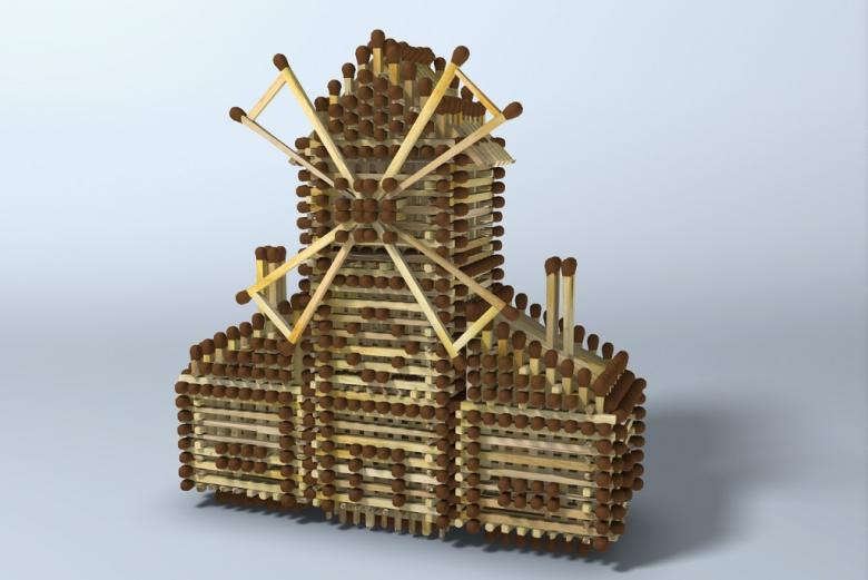 Domek zbudowany z zapałek