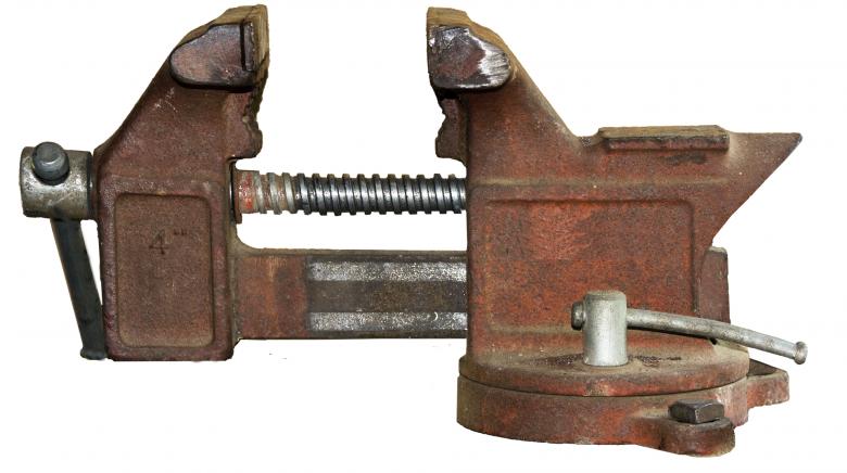 Zdjęcie imadła, narzędzia do zaciskania