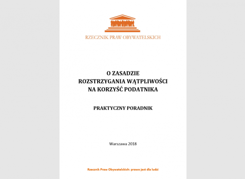 Okładka z pomaranczowym tytułem na białym tle