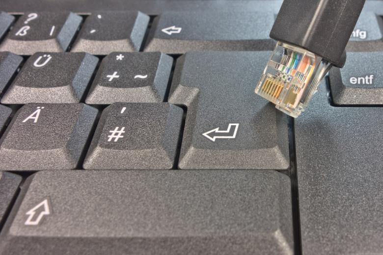Klawiatura komputera i kabel