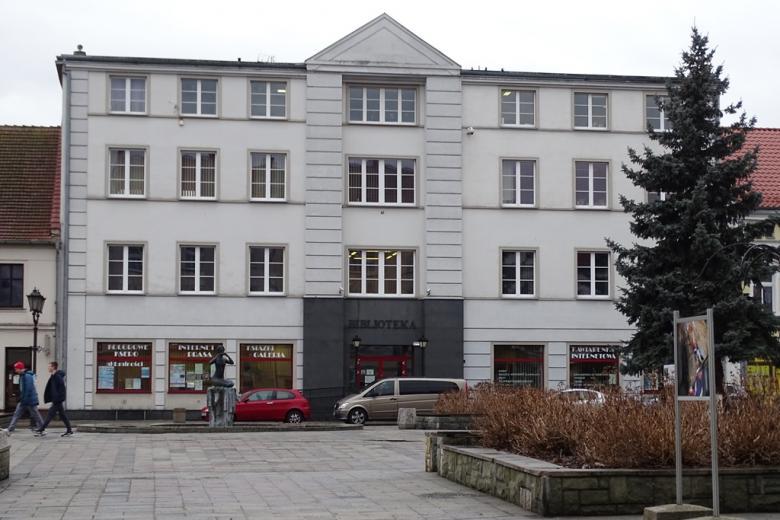 """Budynek z nalisem """"biblioteka"""""""