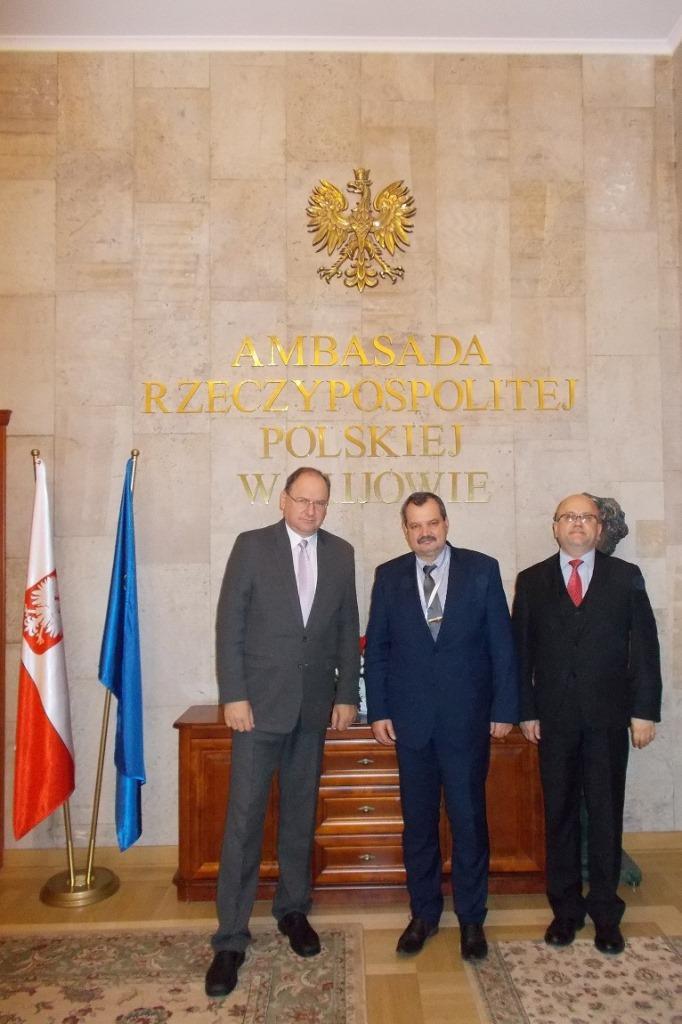 Krzysztof Olkowicz during visit in Polish Embassy