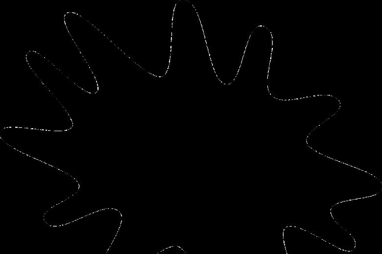 Kleks czarnej farby