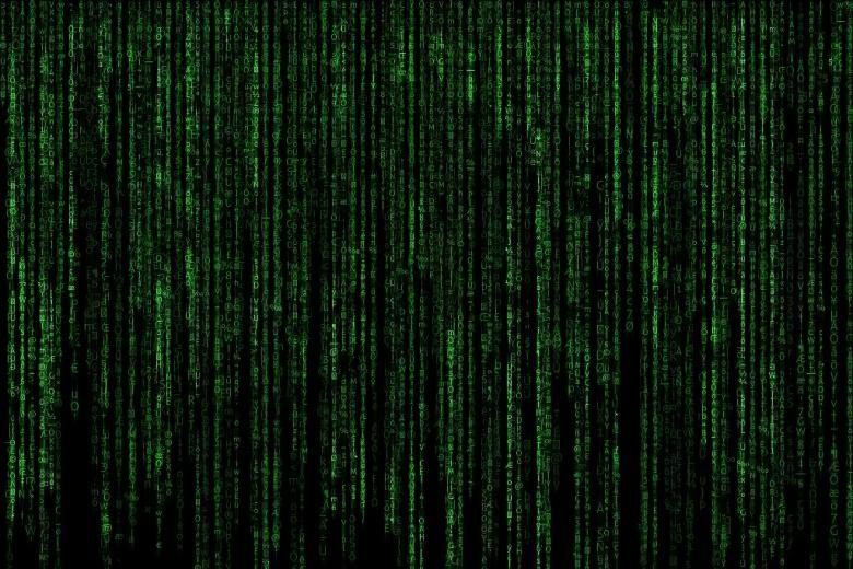 Kod (zielone liczby na czarnym ekranie)