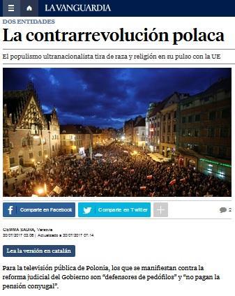 zdjęcie: fragment strony internetowej La vanguardia
