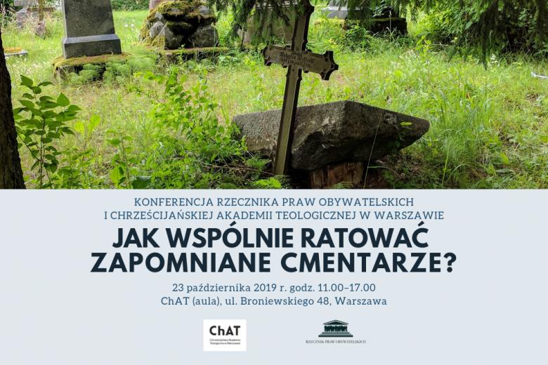 slajd pokazuje zdjęcie ewangelickiego cmentarza oraz informuje o terminie i miejscu konferencji