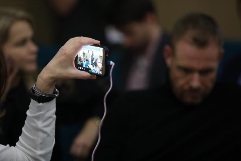 Telefon komórkowy robi zdjęcie