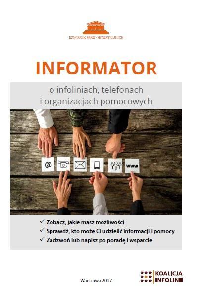 zdjęcie: biała okładka z pomarańczowyn napisem informator