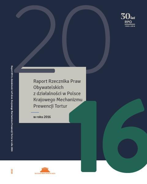 grafika: fragment okładki publikacji Krajowego Mechanizmu Prewencji Tortur