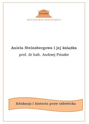 Biała okładka z czarnym tytułem i pomarańczowym logiem